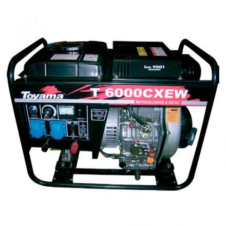 Generador Motosoldador TD6000CXEWJ-AB 406 cc. Toyama