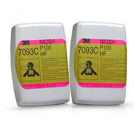 FILTRO 7093C P100 OZONO/VAP ORG/ G. AC (1 PAR) 3M