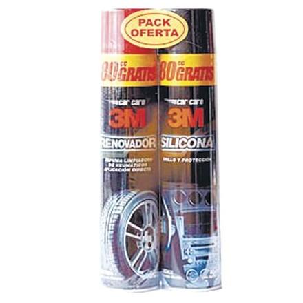 Pack Silicona + Renovador de Uso Automotriz