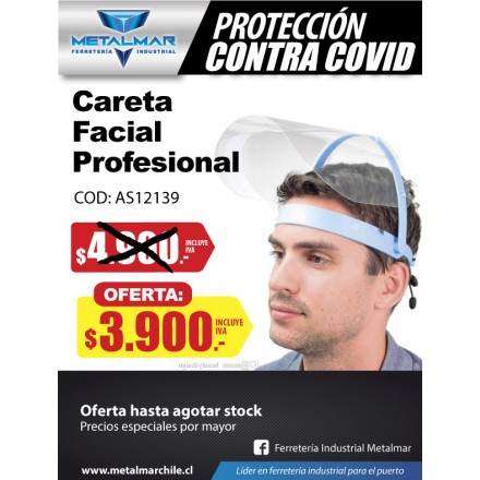 careta facial profesional