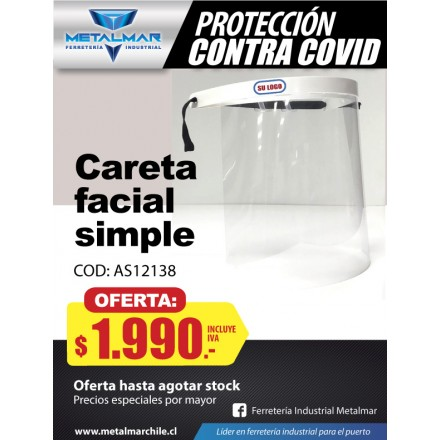careta facial Simple