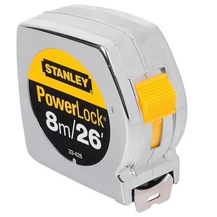 HUINCHA DE MEDIR 8mts 33-428 POWER LOCK STANLEY