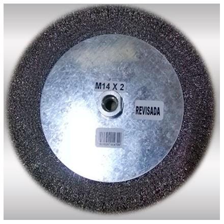 "GRATA CIRCULAR AC INOX. ONDULADO M-14 9"" HELA"