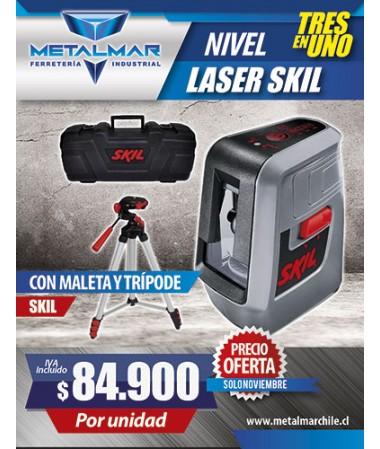 Nivel laser skil con maleta y trípode